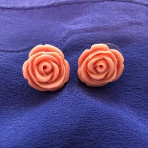 Betsey Johnson Pink Rise Earrings - mid 2000s